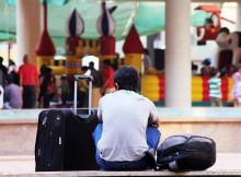 Gepäck, Rucksack oder Koffer