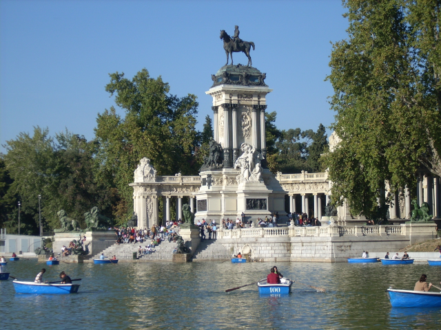 Der Retiro Park in Madrid