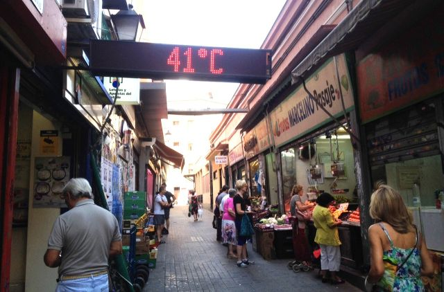 Sommer in Madrid, Hitze in Madrid