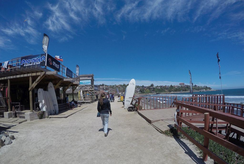 Playa la Boca in Concón in Chile