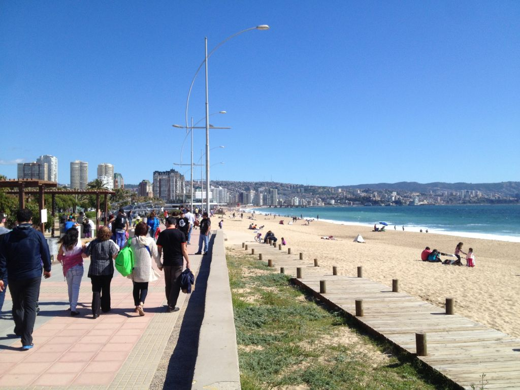 Strandpromenade in Viña del Mar