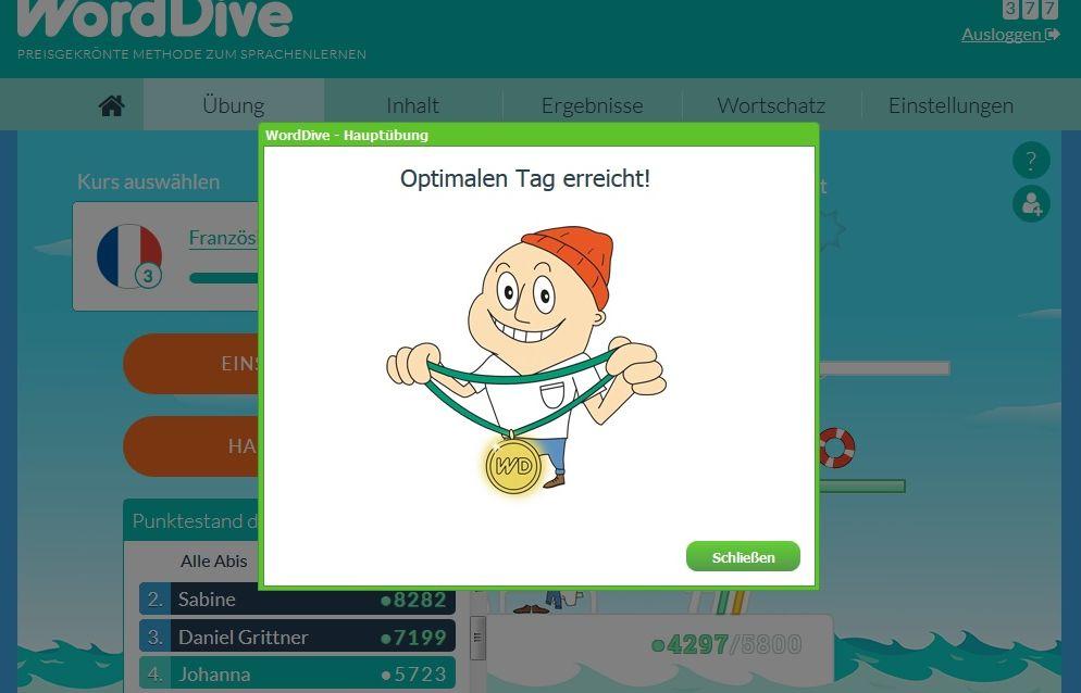 Online eine Sprache lernen mit WordDive