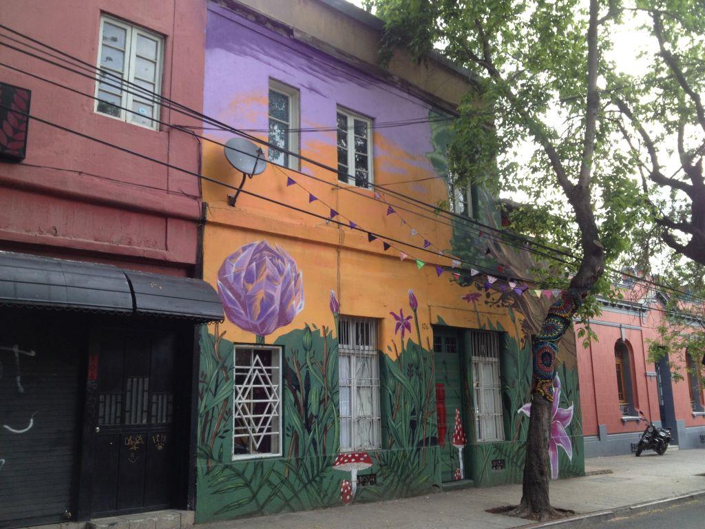 Streetart im Stadtviertel Bellavista in Santiago de Chile