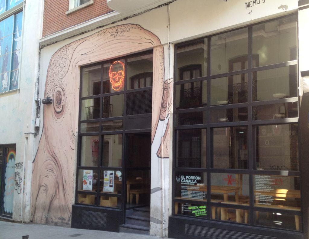 Vergängliche Kunst in Madrid