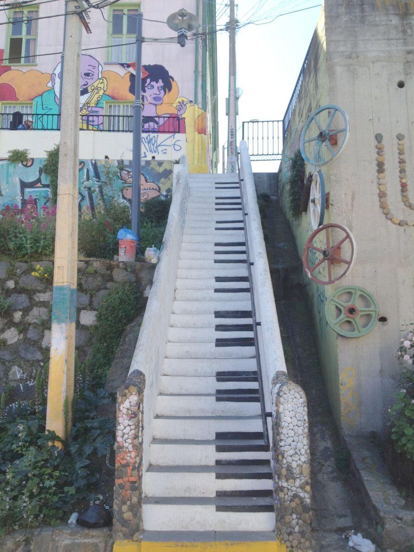Klavierstufen in Valparaíso
