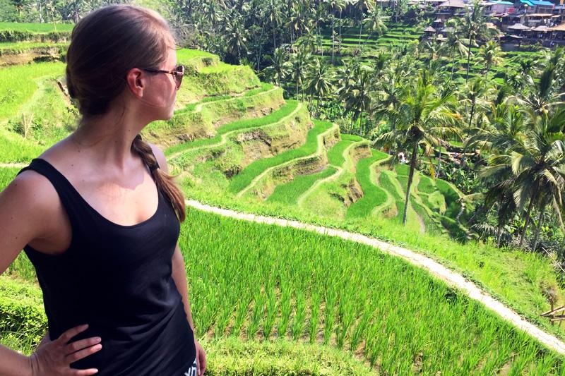 Franzi auf Bali