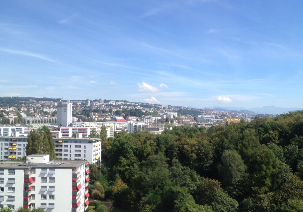 Aussicht auf Lausanne