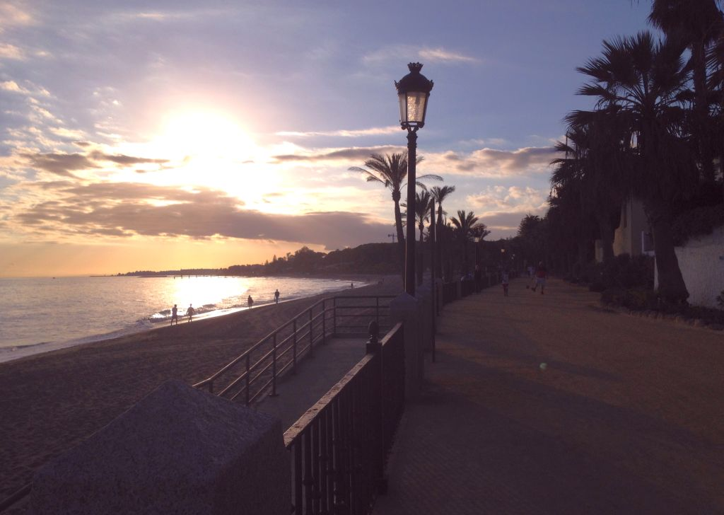 Sonnenuntergang in Marbella