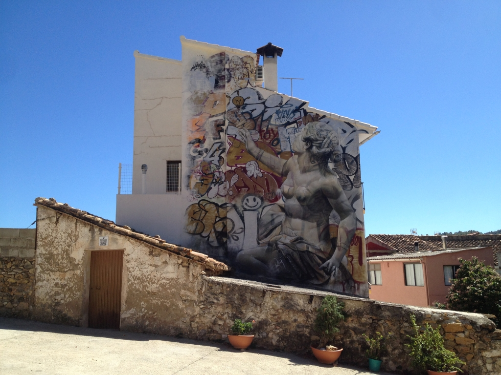 Bemalte Fassade in Fanzara
