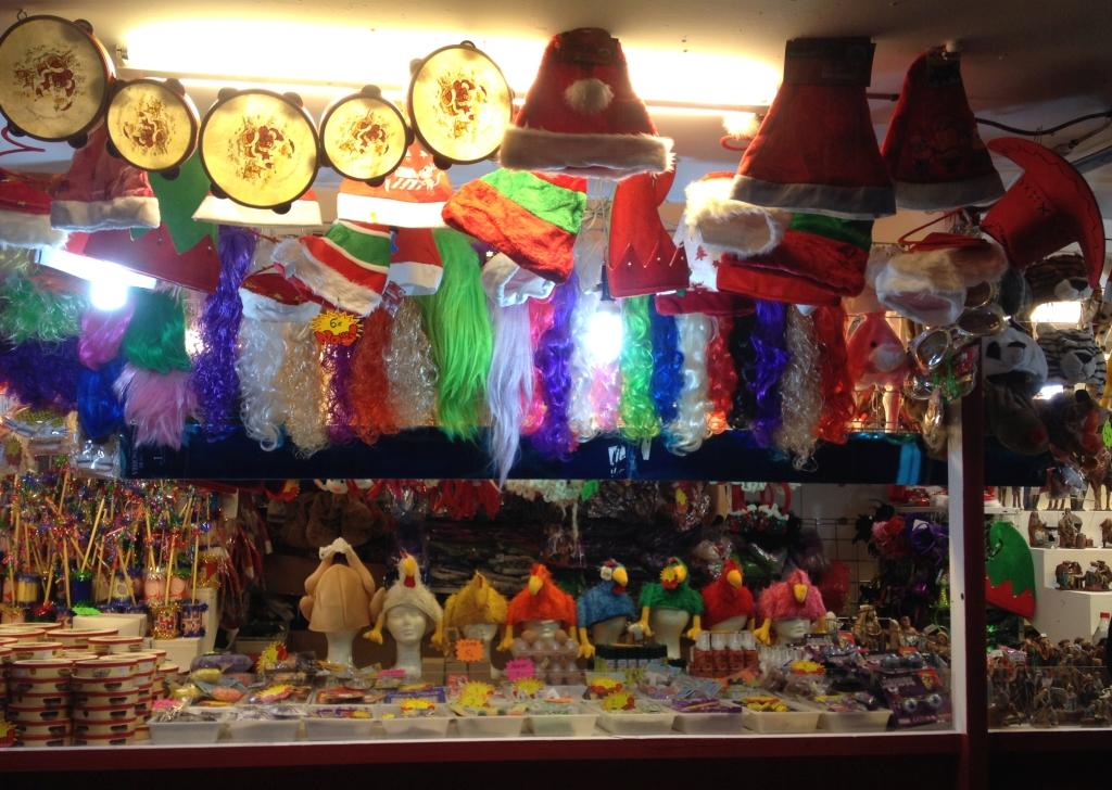 Stand auf dem Weihnachtsmarkt in Madrid