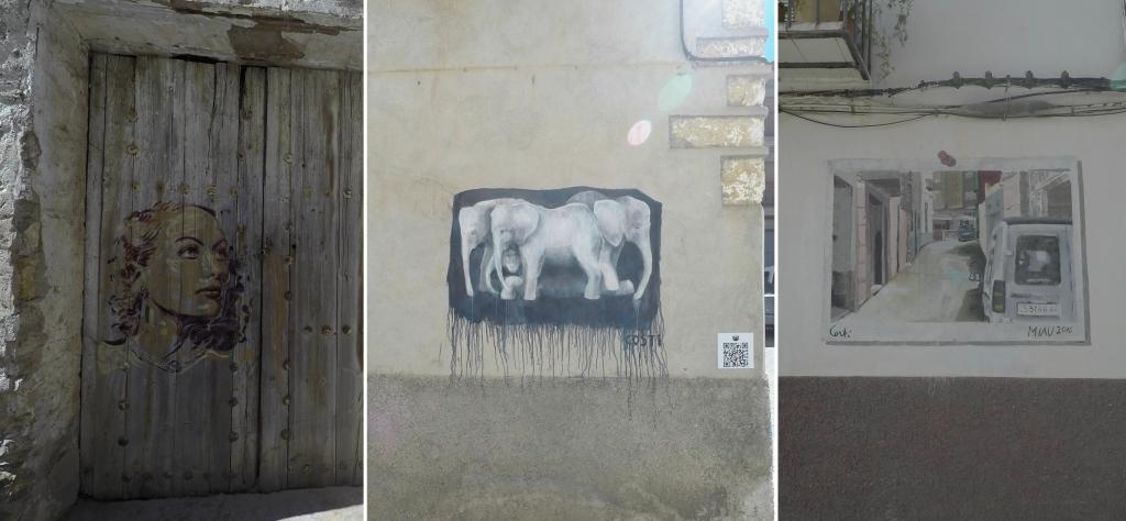 Kleine Streetartwerke in MIAU Fanzara