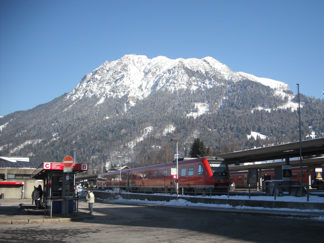 Bahnhof Oberstdorf im Winter