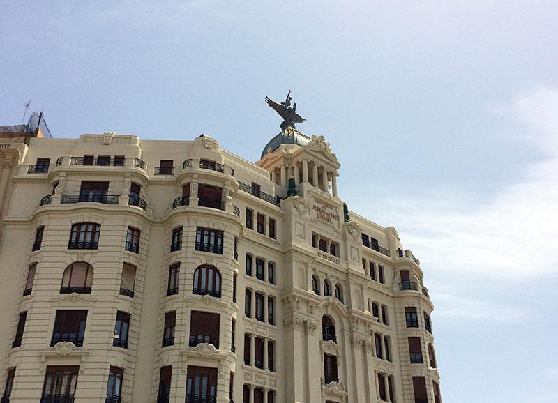 Imposantes Gebäude in Valencia
