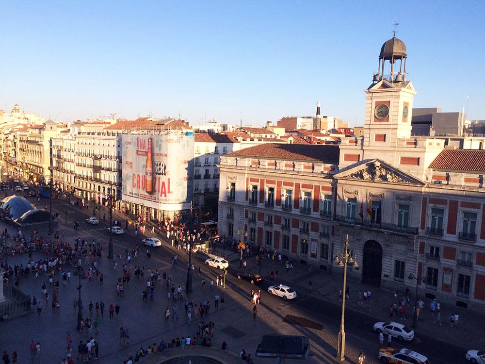 Die Puerta del Sol ist immer voll