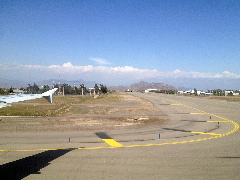 Bye bye Chile - Flughafen Santiago de Chile
