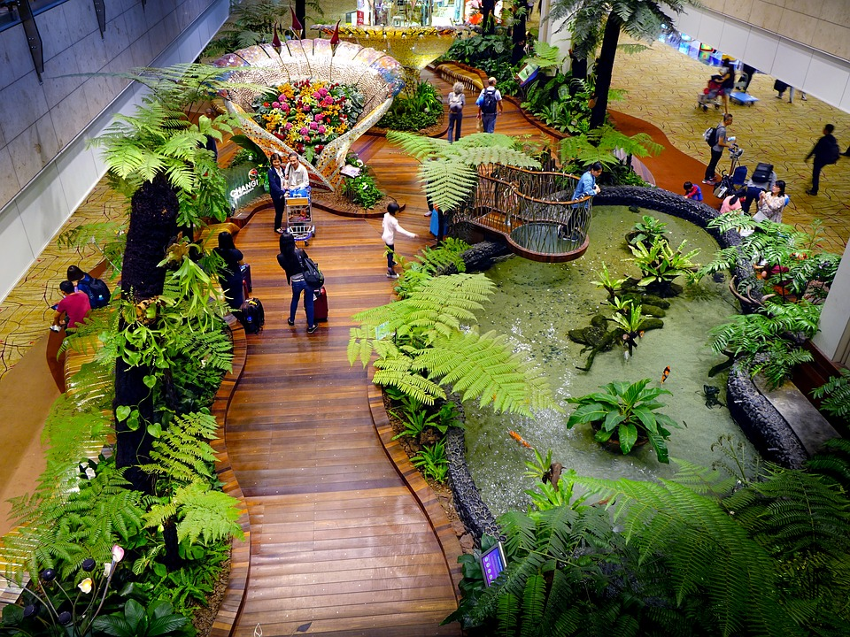 Changi International Airport in Singapur