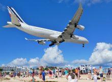 Flughafen auf St Maarten, Maho-Beach