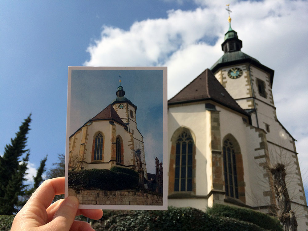 Postkarte mit der MyPostcard-App