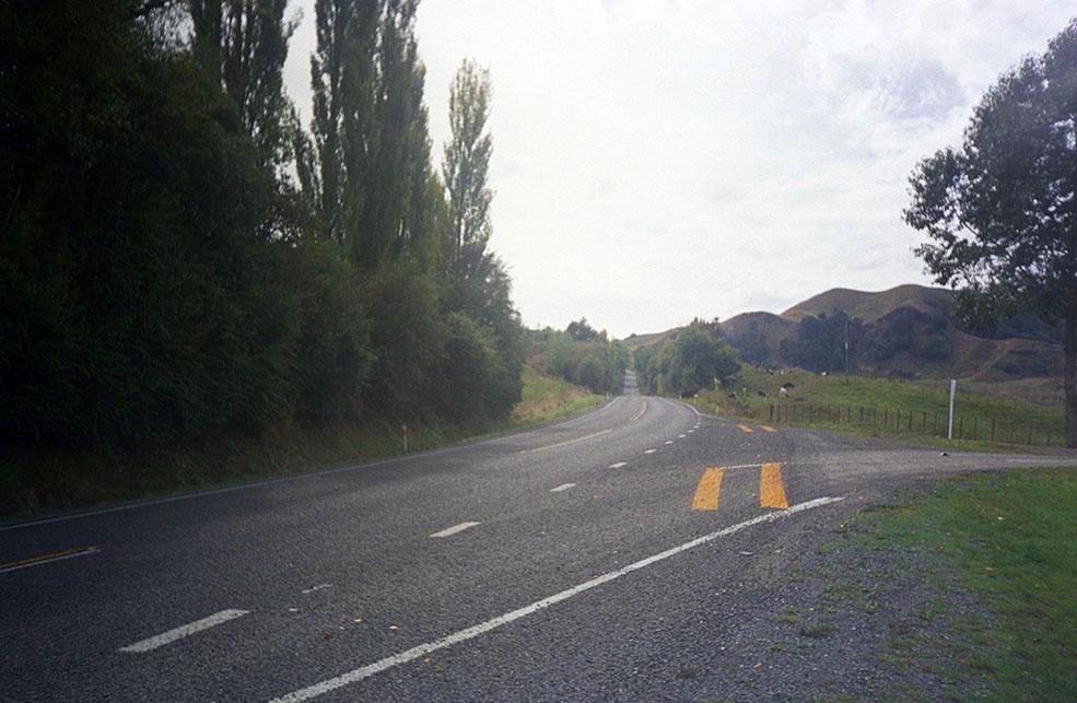 Straße in Neuseeland - Nordinsel