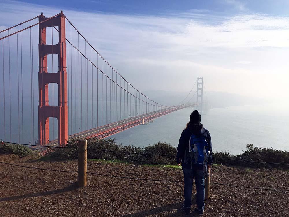 Blick auf die Golden Gate Bridge von Battery Spencer